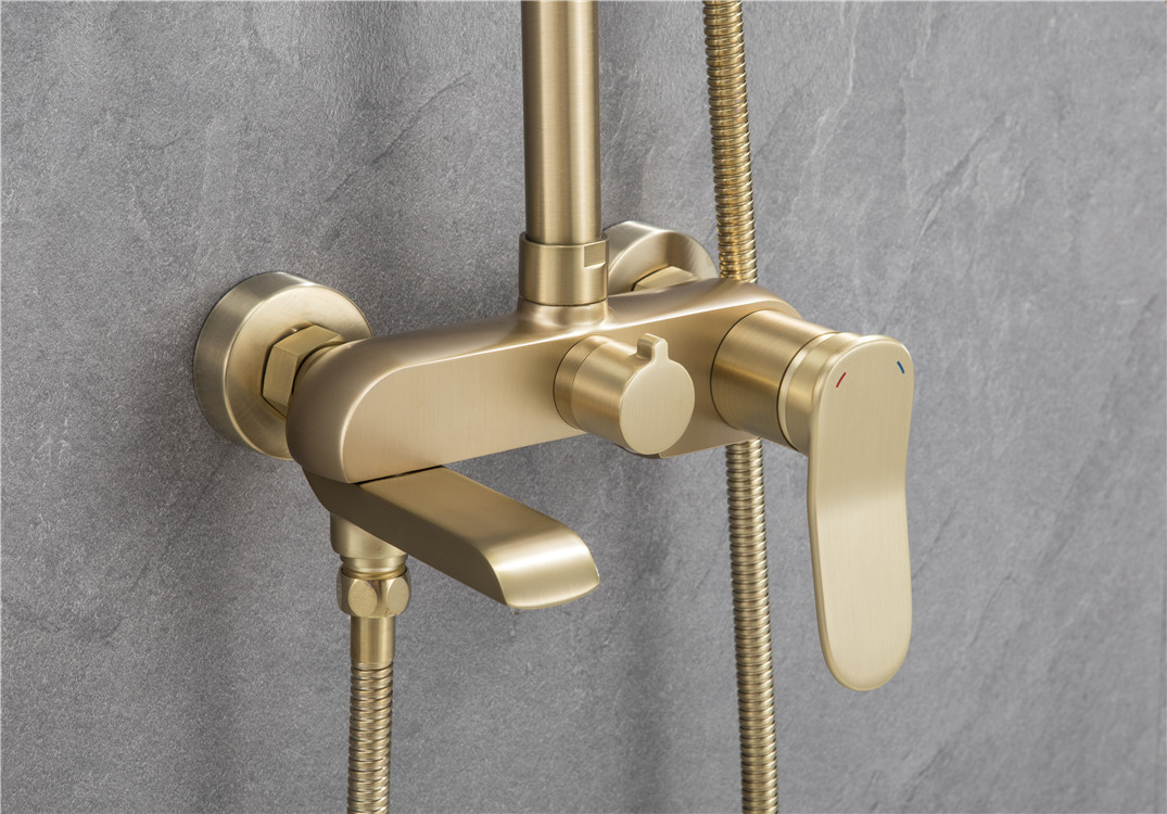 Large shower faucet of Raskin bathroom Bathroom faucet 4 hole mounting deck brass bathtub faucet set