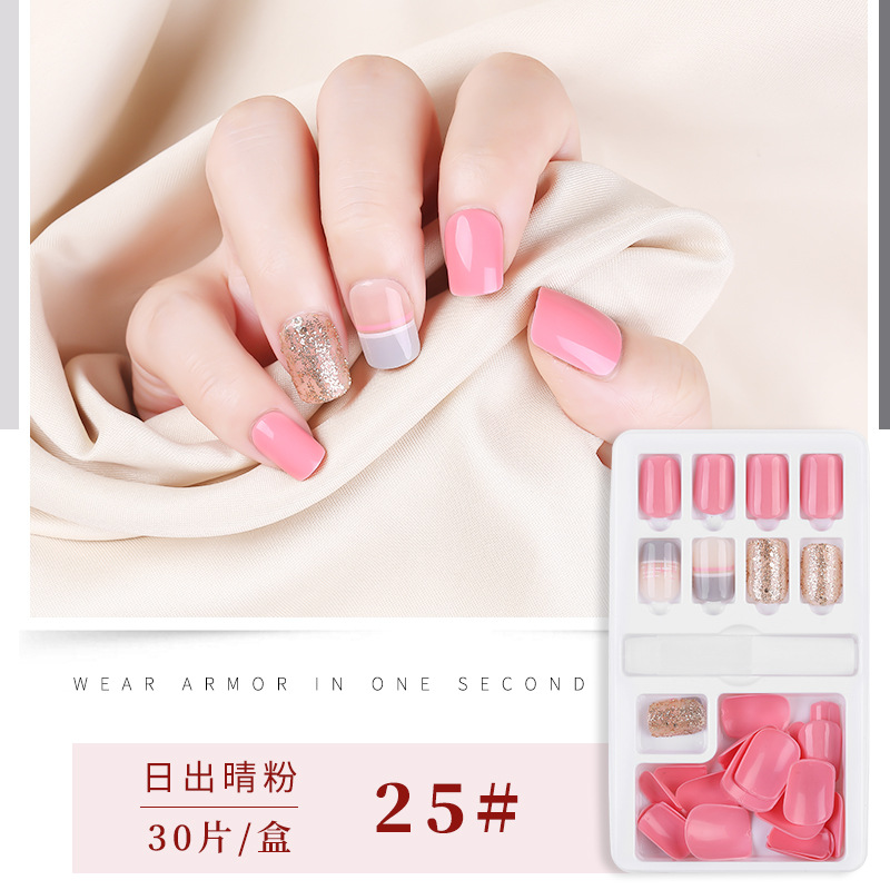 Fashion Women Metallic Full Cover False <strong>Nails</strong> French <strong>Acrylic</strong> Stiletto Coffin Mirror Artificial <strong>Nail</strong> Art <strong>Tips</strong> 12/24 Pcs