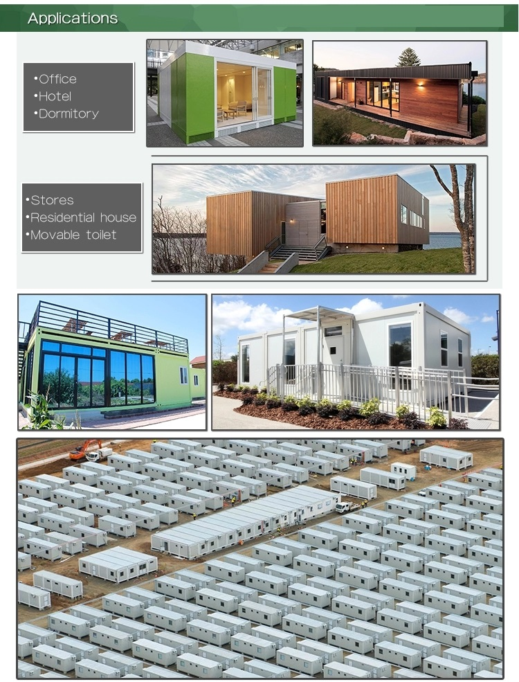 New Portable 20ft prefab container house(Bathroom, kitchen