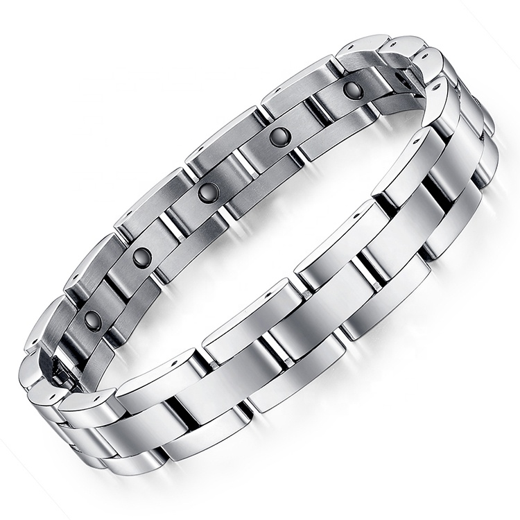 Healing Health <strong>Energy</strong> <strong>Magnetic</strong> <strong>Bracelet</strong> Stainless Steel For Men Charm Link Chain <strong>Bracelets</strong>