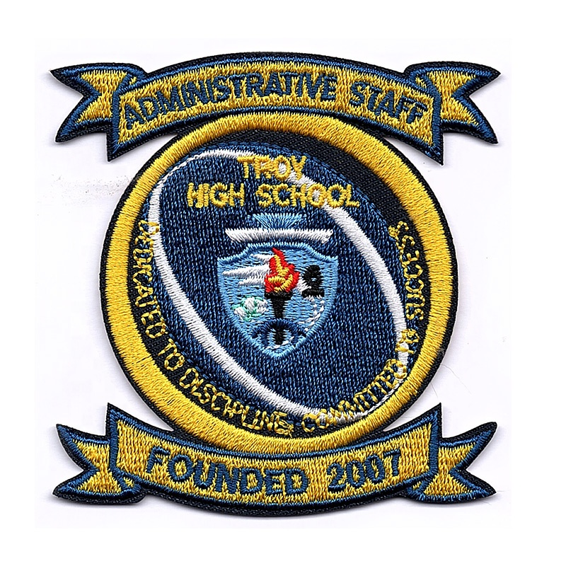 L'école logo patch uniforme fr vêtements patchs