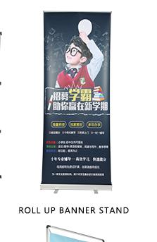 Luxus aluminium versenkbare banner roll-up für pull up werbung display