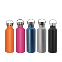 Wholesale Colorful Leek Proof Outdoor Cola Shaped Powder Coating Sports Vacuum Insulated Stainless Steel Water Bottle