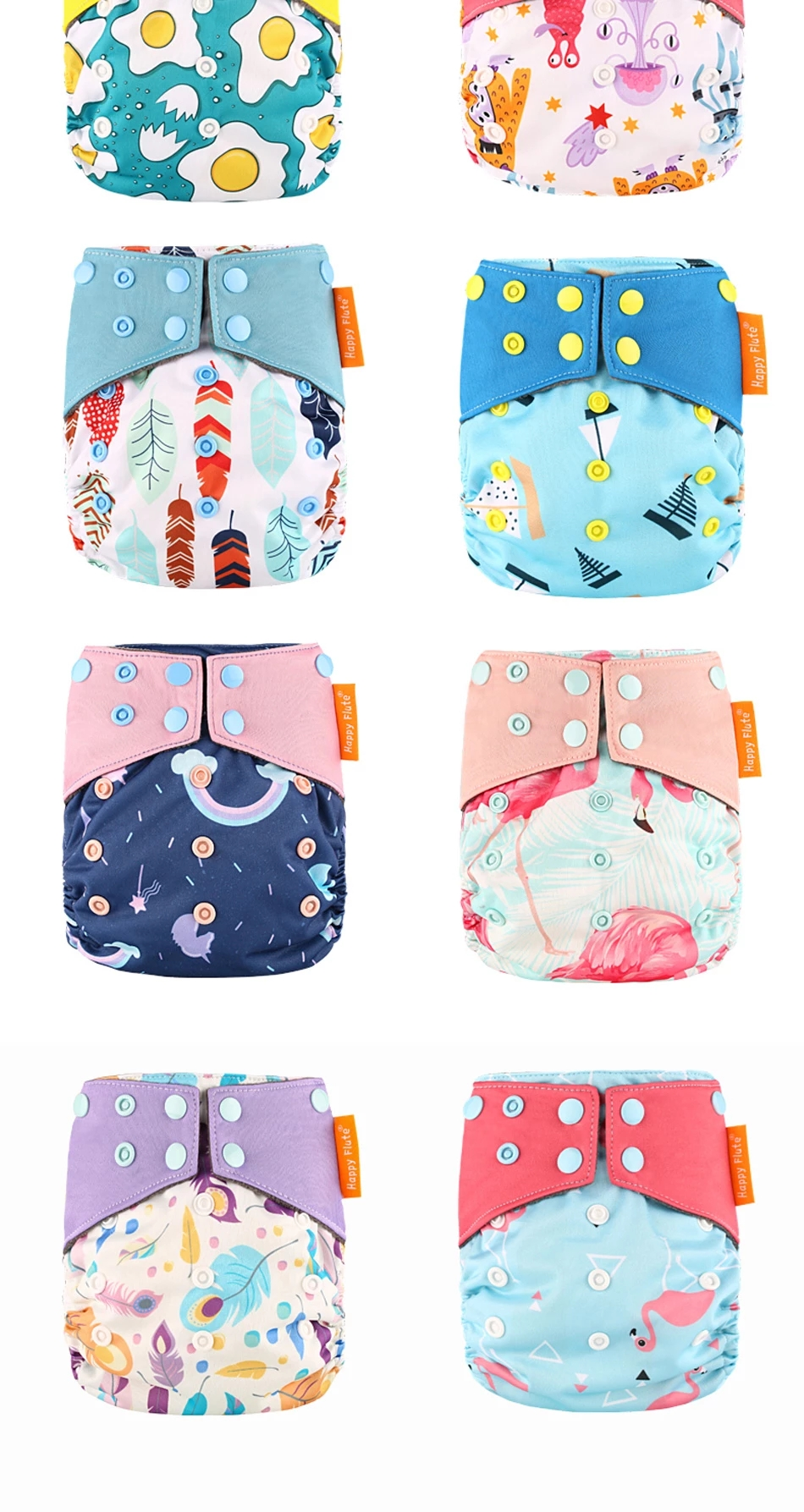 2019  reusable   OS AIO cloth diaper with double gussets