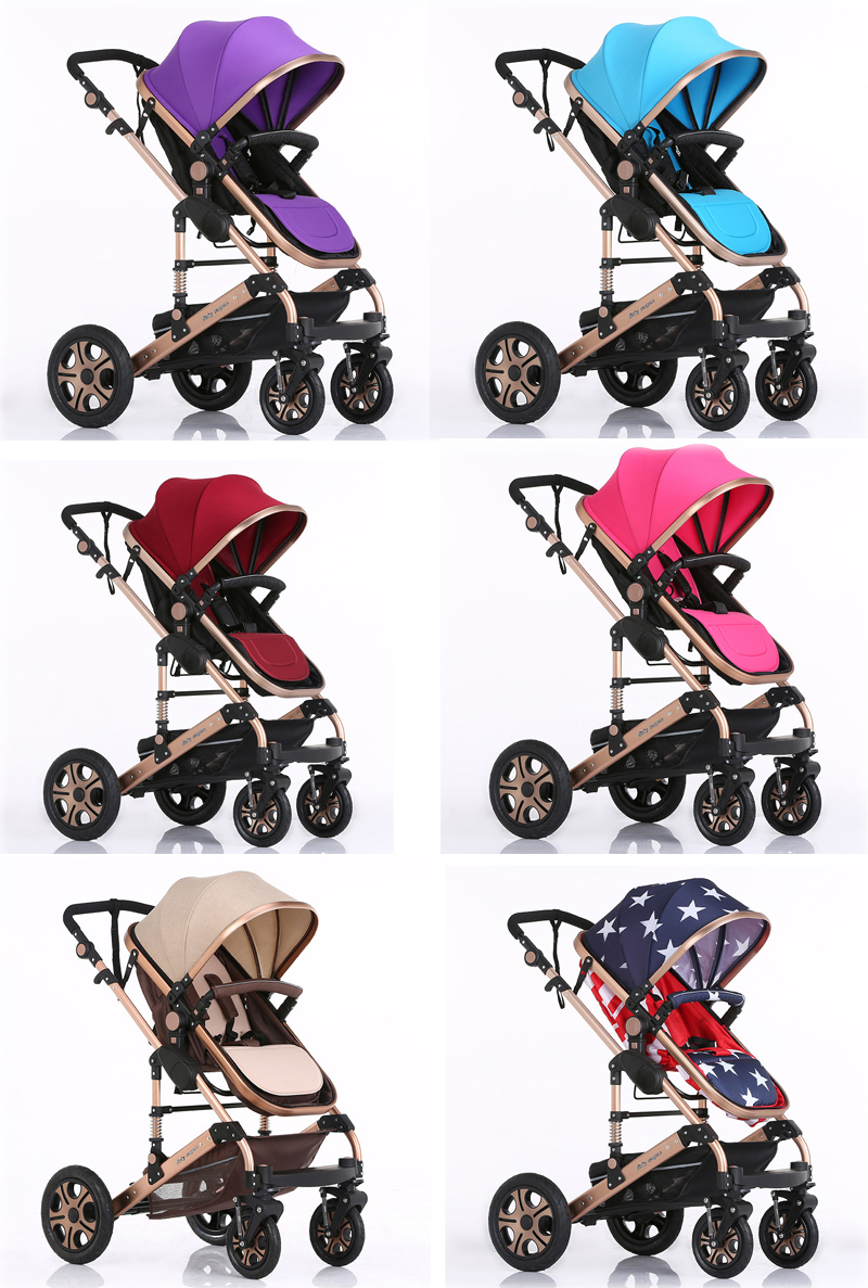 2020 Fashionable shocking proof baby stroller 3 in 1