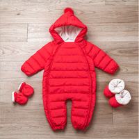 Newborn baby romper baby down jacket thick warm children outside winter climbing clothes