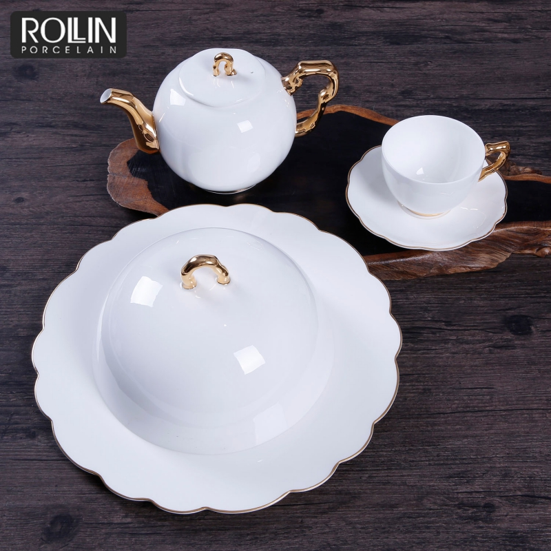 New Design Fine Bone China Plates Tableware for Hotel and Restaurant