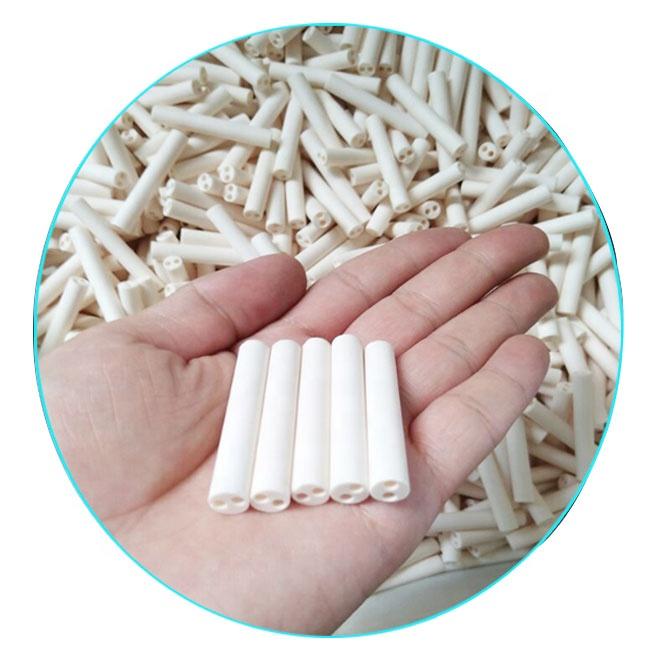 Высокой чистоты корунда керамическая трубка используется для глинозема изоляционного экранная труба