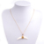 Fashion Handmade Shell Horn Pendant Necklace Women Gold Silver Chain Necklace