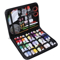 Online Best Seller 98 pcs PU Leather Large Set Travel Home Storage Sewing kit Set Box