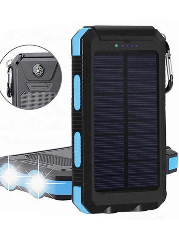 2019 מכר שמש כוח בנק USB הכפול Powerbank 10000mAh עמיד למים שמש סוללה מטען