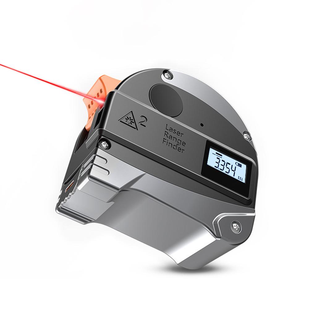 2 in 1 Digital Laser Measure Tape 30M Rangefinder  Measuring Tape Laser Distance Meter with LCD Display