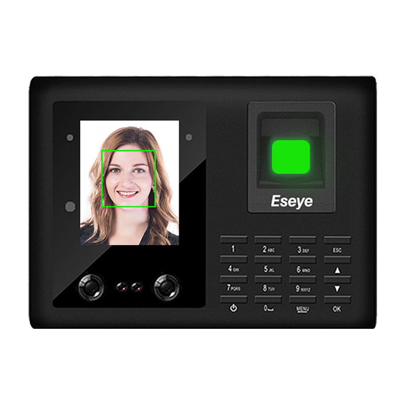 Eseye 2.8 Inch TCPIP WIFI Face Recognition Access Control Recorder Punch Card Machine System Fingerprint Time Attendance Machine