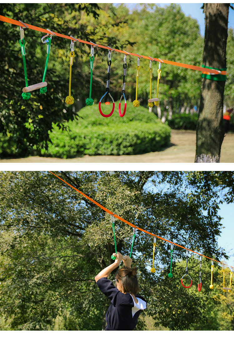 High quality obstacle course slack line kit fitness swing slack line for kids