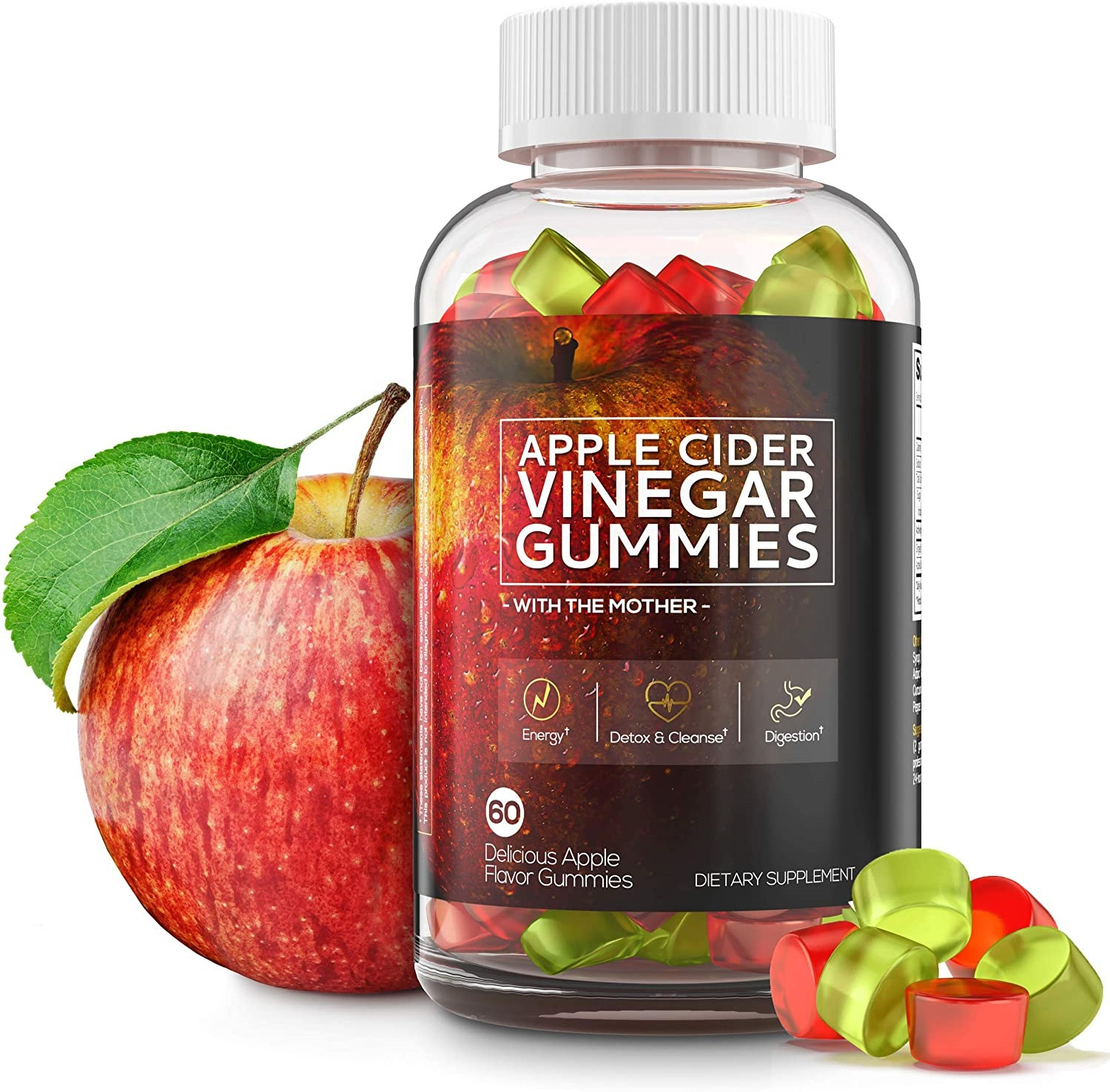 labeling apple cider vinegar gummies vegan for weight loss support improve immune system