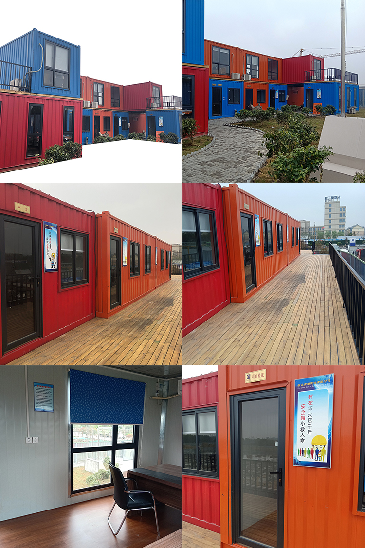 iso 40 container/french granny tube/sandwich panel prefab home for cambodia and bangladesh