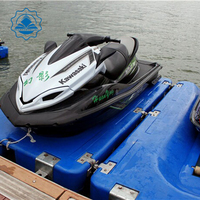popular Blue colour used jet ski float for yacht have rollers HDPE plastic in high quality blow molding jet ski dock