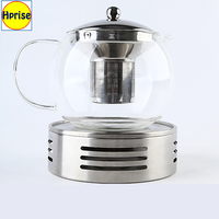 Wholesale Modern Borosilicate Glass Teapot Tea Pot with Stainless Steel Infuser and Warmer