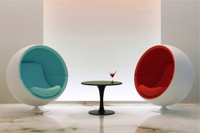 Fashionable design fiberglass fabric modern global giant Swivel Speaker Leisure Space Ball Chair For Sale