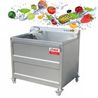 Machine Washer Quality Vegetable Washer Factory Steel Cleaning Fruit Washing Machine Vegetable Washer Machine Fruit Apple Pear Automatic Vegetable Washer
