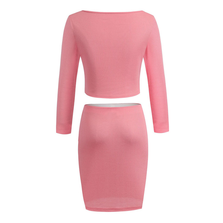 2020 Autumn  one shoulder button long sleeve short skirt suit temperament slim disco night club dress