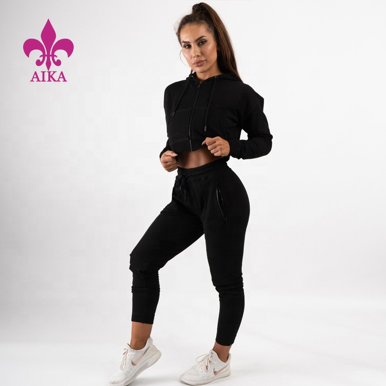 High quality Customized bodysuits sexy girls sports sets workout plain tracksuits for women