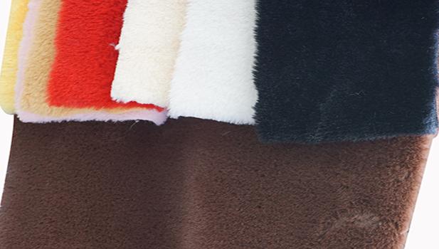 ขายส่งขนหมองคล้ำ faux กระต่าย FUR ขนแกะผ้า Made in China