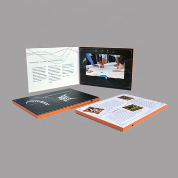 Promotional diy 4.3 5 7 10 inch paper lcd recordable invitation video greeting card digital brochure