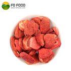 Strawberry [ Malaysia ] LUJIA FDFOOD US$35 Per Carton Shipping Cost To Malaysia Whole Or 5-7mm/slice With Sugar Fruit Snacks Freeze Dried Strawberry