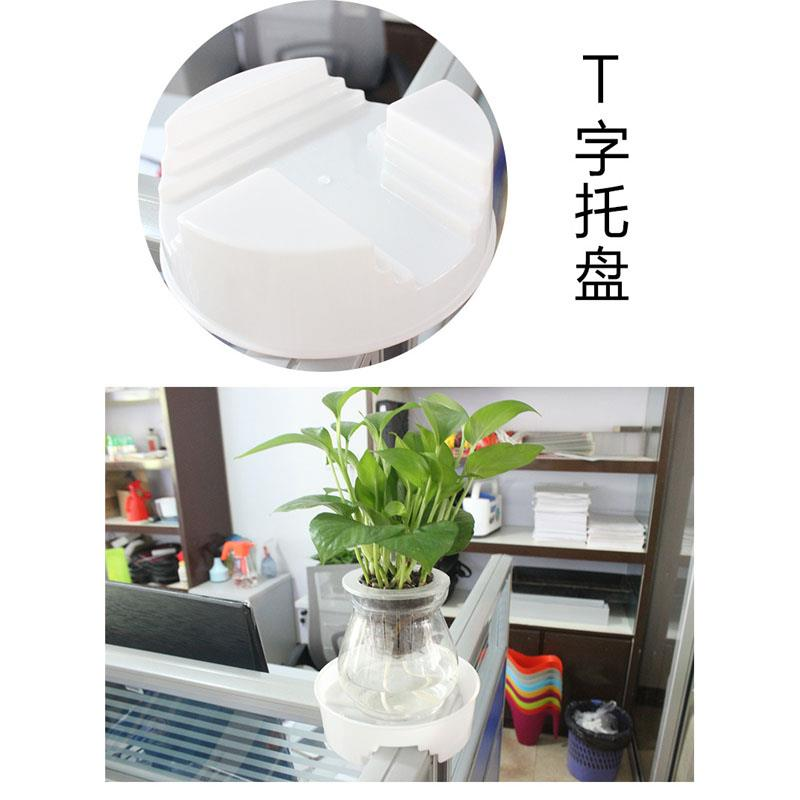 office desk flower plant t shape cross tray fixed tray
