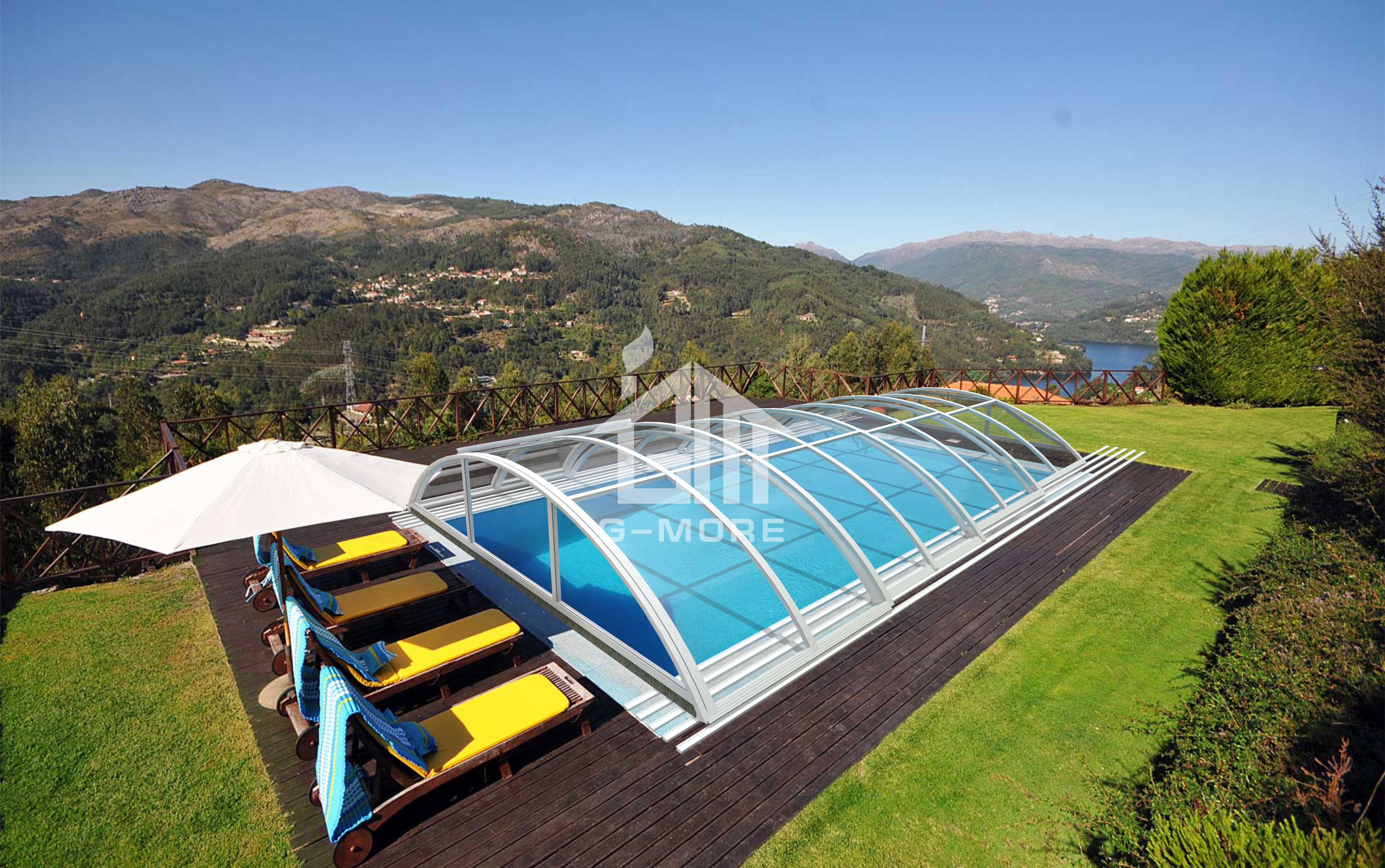 Aluminum Swimming Pool Enclosure Manufacturer(13'x26 ...