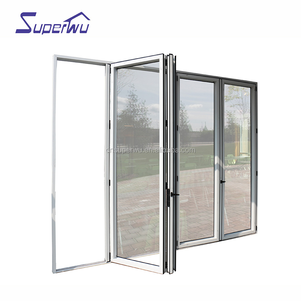 Apartment entrance doors aluminum alloy folding mosquito screen door