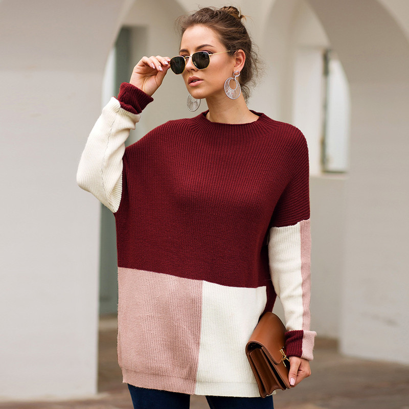 Customized wholesale of high quality Thin Sample Wool Cashmere Blend Sweater Female Uniforms O Neck Pullover