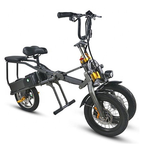 Inexpensive Fast <strong>Folding</strong> 14 Inch 48v Lithium Battery Electric Bicycle, 3 wheels motorcycle electric bike