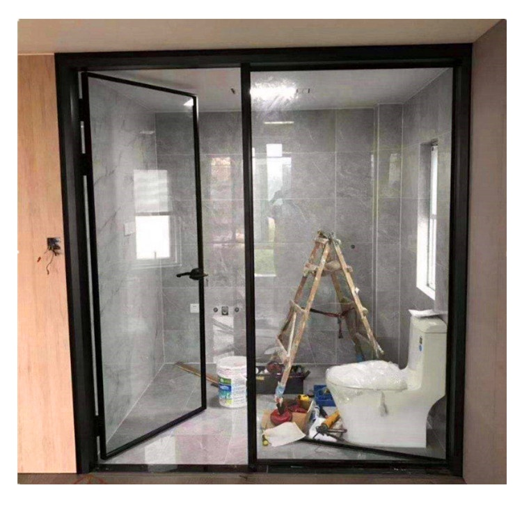 Super slim narrow frame aluminum casement <strong>door</strong> for bedroom and kitchen