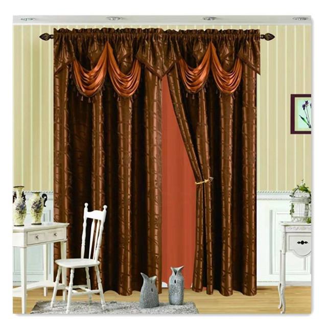 Новый продукт, готовые роскошные декоративные шторы для окон