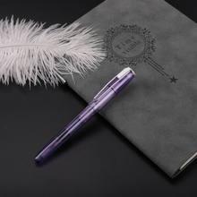 Wing Sung 3010 ручка для фонтанов, прозрачная ручка с прозрачными чернилами, хороший наконечник, деловые канцелярские принадлежности, офисные шко...(Китай)