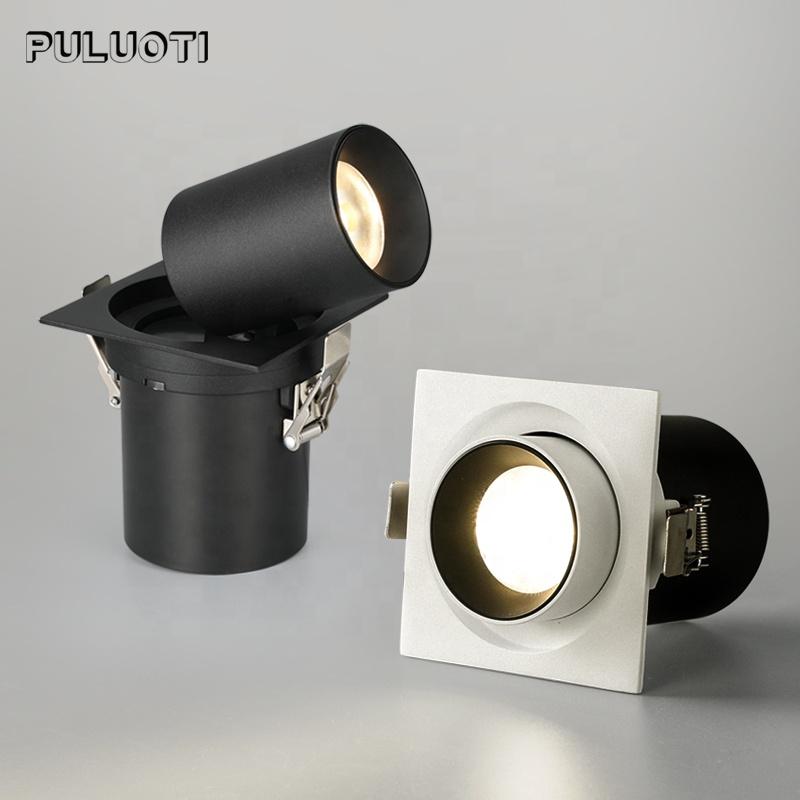 Puluoti 임베디드 앵글 조절 텔레스코픽 램프 홀더 LED 스포트라이트