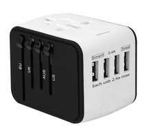 2020 Baru Mulai Universal Travel <span class=keywords><strong>Adaptor</strong></span> All-In-One International Power <span class=keywords><strong>Adaptor</strong></span> 4USB Universal Travel <span class=keywords><strong>Adaptor</strong></span>