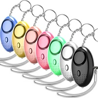 130DB Siren Song LED Portable Emergency SOS Security Self Defense Alarm Keychain Personal Alarm for Women Children Elders