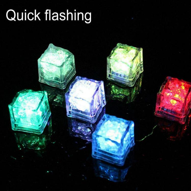 Best LED Glow Ice Cube Fast Slow Flashing LED Lights Glitter Light Up Ice Cube LED Ice Cubes For Party Bar Christmas