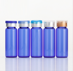 5ml Blue Glass Ampoule Cosmetic Bottle Cillin Bottle With Clip Cap