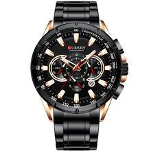 CURREN 8363, модные мужские часы из нержавеющей стали, Топ бренд, роскошный спортивный хронограф, кварцевые часы для мужчин, Relogio Masculino(Китай)