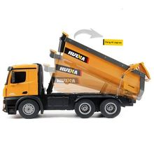 Neueste Huina 1573 Rtr 2,4 Ghz 10 Kanal 1:14 <span class=keywords><strong>Fernbedienung</strong></span> Rc Dump <span class=keywords><strong>Lkw</strong></span> 573 Metall Auto Demonstration Led Licht spielzeug