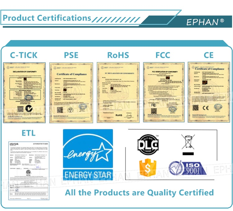 ETL & Certifiés Energy Star 4 ''9W Dimmable Encastré Mince LED Panneau Lumineux