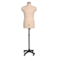 High quality tailoring dress form half body mannequin men