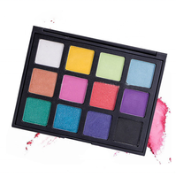 High Pigment Custom Matte Shimmer 12 Color Eye Shadow Makeup Palette Eyeshadow
