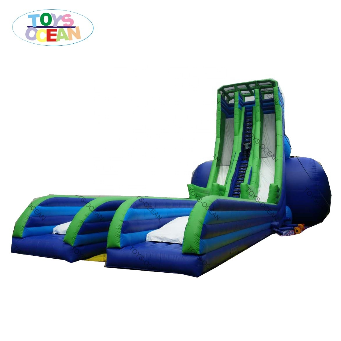 Extreme Inflatable Adult large  Slide Two Lanes screamer water slide