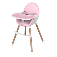 Blue baby high chair kid's table with safety strap