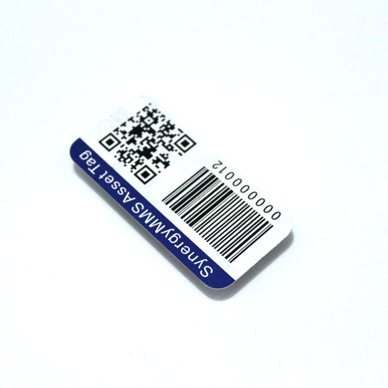 Custom Anodized Aluminum  Metal Barcode Labels with QR code